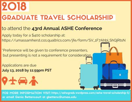 2018 Travel Scholarship Flyer (Updated)