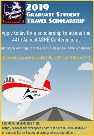 2019 travel scholarship flyer